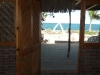 Another view towards the beach from the palapa living room