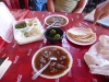 Goat Birria in broth (mine had tongue in it, lacey's did not)