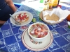 Visit #2 ceviche tostada and a cold fish broth with octopus and shrimp