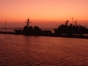 Sunset at Naval Base San Diego
