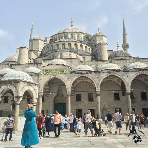 The stunning Blue Mosque in Istanbul.